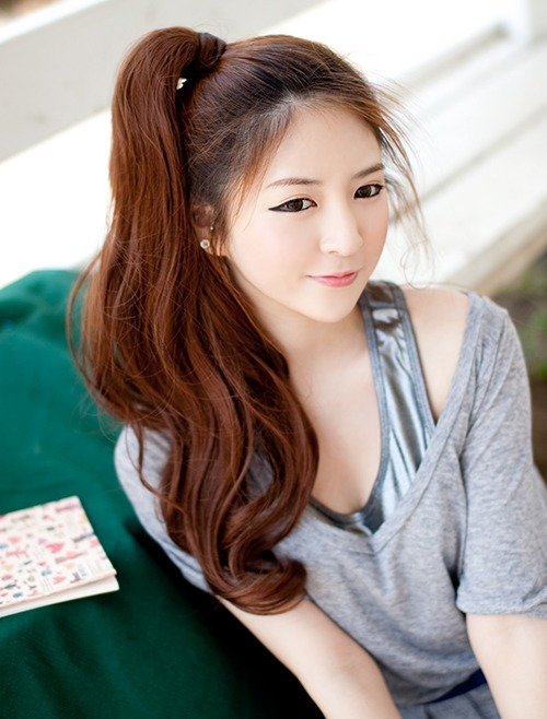 Rolling Ponytail Wig Long Wave 52cm