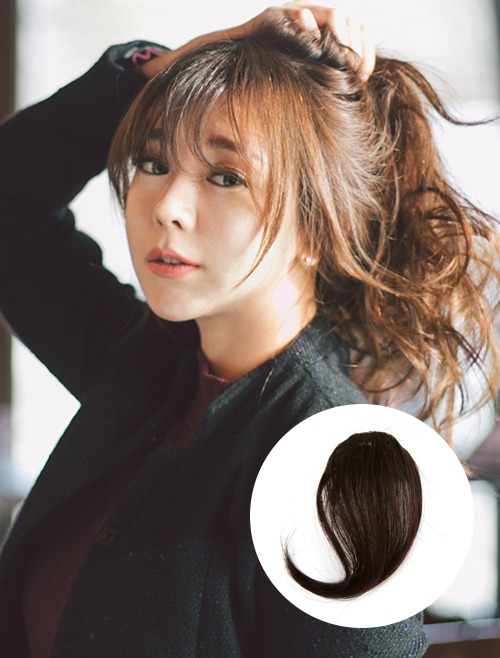 Human Hair Bangs Wig See-through Bangs Mini