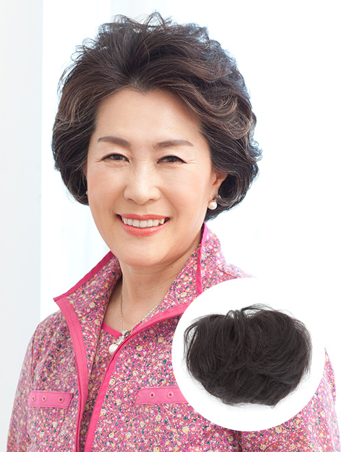 Hair Toppers Wig Natural Bouncy Filler Medium (Human Hair)